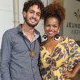 Jeniffer Nascimento curtiu o show  de John Mayer com  o namorado, Jean Amorim