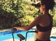 Débora Nascimento treina com aerobike e exibe gravidez: 'Pedala, mamãe'. Foto!