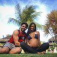 Aline Dias se emocionou com as primeiras vacinas do filho, Bernardo