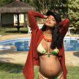 Aline Dias registrou sua gravidez nas redes sociais