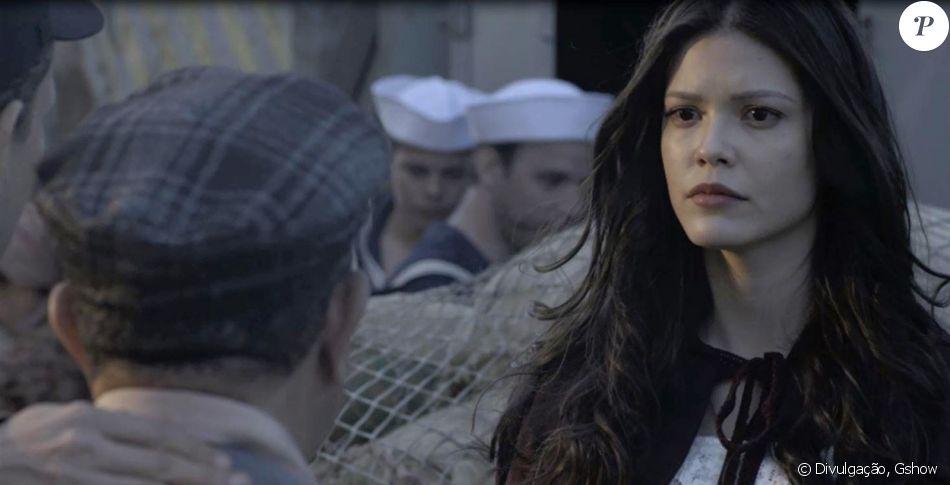 Novela 'Tempo de Amar': no capítulo que vai ao ar no dia 18 de novembro de 2017, Maria Vitória (Vitória Strada) compra sua passagem de volta para Portugal, sem saber que o navio será alvo de um atentado