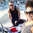Sheron Menezzes deu à luz um menino, fruto do relacionamento  Saulo Bernard