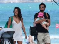 Yanna Lavigne e Bruno Gissoni passeiam com filha, Madalena, em praia. Fotos!