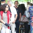 Stella Miranda também se juntou aos familiares de Marcia Cabrita para o último adeus à comediante