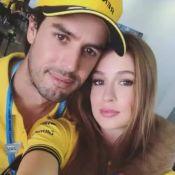 Marina Ruy Barbosa, com marido em GP do Brasil, é zoada por Gagliasso: 'Ciúmes'