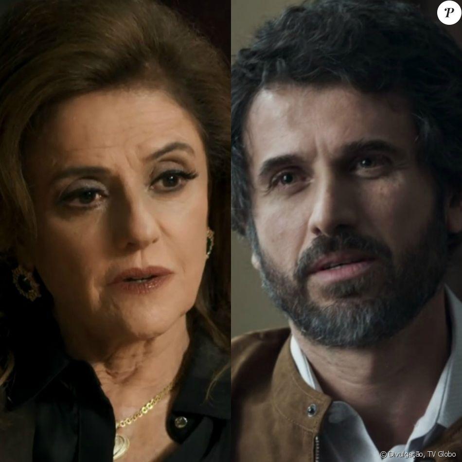 Sophia (Marieta Severo) ameaça revelar para todos que Samuel (Eriberto Leão) é homossexual se ele não lhe ajudar a colocar Clara (Bianca Bin) em um hospício, no capítulo previsto para ir ao ar a partir do dia 20 de novembro de 2017, na novela 'O Outro Lado do Paraíso'