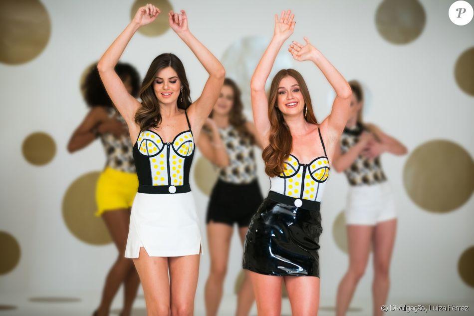 Marina Ruy Barbosa e Camila Queiroz participaram da nova campanha da Pantene e mostraram sintonia