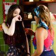 Cecília (Bia Arantes) diz para  Fátima (  Rai Teichimam  ) que errou ao não contar a verdade para  Gustavo (Carlo Porto), na novela 'Carinha de Anjo'