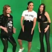 Grávida de gêmeas, Ivete Sangalo faz 'sarrada' e dança kuduro em programa de TV