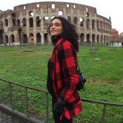 Débora Nascimento mostra barriga de gravidez em viagem: 'Roma com minha filha'