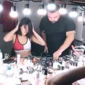 Bruna Marquezine surge de look brilhante e barriga de fora em sessão de fotos