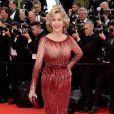 Jane Fonda veste Elie Saab no tapete vermelho do Festival de Cannes 2014