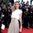 Amber Heard veste Vionnet no tapete vermelho do Festival de Cannes 2014