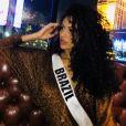 Monalysa Alcântara está em Los Angeles para o concurso do Miss Universo