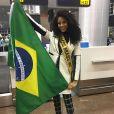 Monalysa Alcântara embarcou no último domingo para o Miss Universo