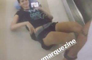 Bruna Marquezine, com barriga de fora, luta boxe ao som de Iza: 'Pesadão'. Vídeo