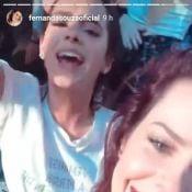 Bruna Marquezine e Fernanda Souza em divertem em show de Thiaguinho. Vídeo!