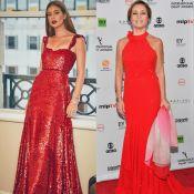 Marina Ruy Barbosa e Adriana Esteves usam vermelho no Emmy Internacional. Fotos!
