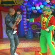Fernando Medeiros levou o filho, Lucca, de 1 ano, ao circo para assistir aos palhaços Patati e Patatá