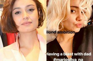 Sophie Charlotte mostra cabelo platinado após mudança de visual: 'Loira'
