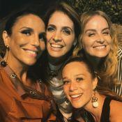Grávida, Ivete Sangalo se reúne com Angélica e mais famosas em jantar: 'Delícia'