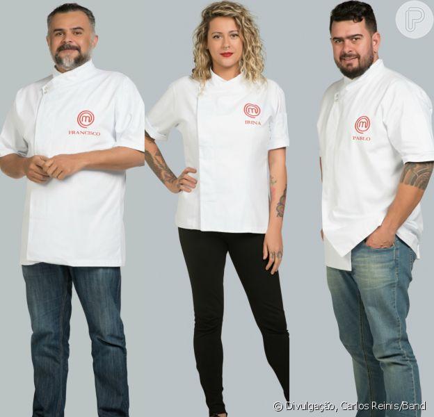 Francisco, Irina e Pablo estão na semifinal do 'MasterChef Profissionais'