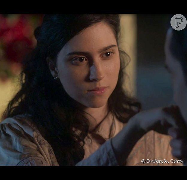No capítulo que vai ao ar no dia 1° de dezembro, da novela 'Tempo de Amar', Fernão (Jayme Matarazzo) e Tereza (Olivia Torres) vão se casar às escondidas