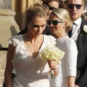 Cara Delevingne é dama de honra no casamento da irmã, Poppy
