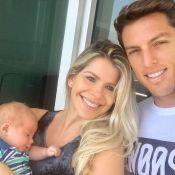 Karina Bacchi mostra namorado, Amaury Nunes, com filho em foto: 'Doce surpresa'