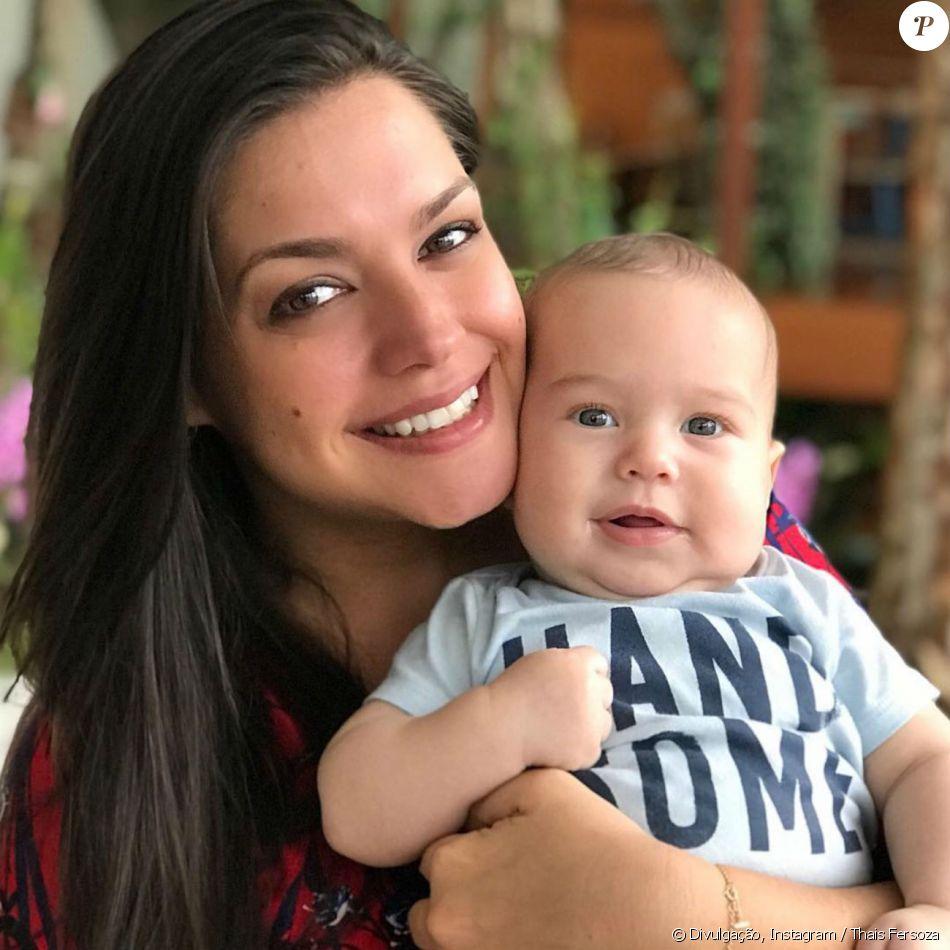 Thais Fersoza contou por que tem poucas fotos com filho, Teodoro, de 3 meses, nesta quinta-feira, 23 de novembro de 2017