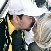 Maraisa, dupla de Maiara, de peruca loira, ganha beijo do noivo, Wendell Vieira