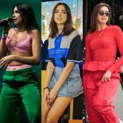Conheça o estilo descolado de Dua Lipa, cantora que inspira looks de famosas