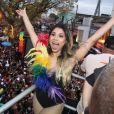 Lexa esteve na 17ª Parada do Orgulho LGBT em Madureira, Zona Norte do Rio de Janeiro