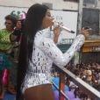 Ludmilla cantou na 17ª Parada do Orgulho LGBT em Madureira, Zona Norte do Rio de Janeiro