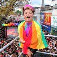 O promoter David Brazil esteve na 17ª Parada do Orgulho LGBT, no domingo, 26 de novembro de 2017, em Madureira, Zona Norte do Rio