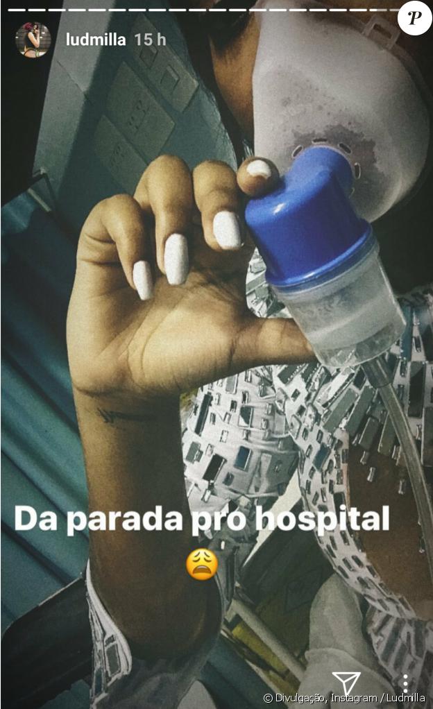 Ludmilla deixou os fãs preocupados após publicar uma foto em que aparece usando um nebulizador