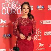 Paolla Oliveira aposta no vermelho para ir ao evento Globos de Ouro, em Lisboa
