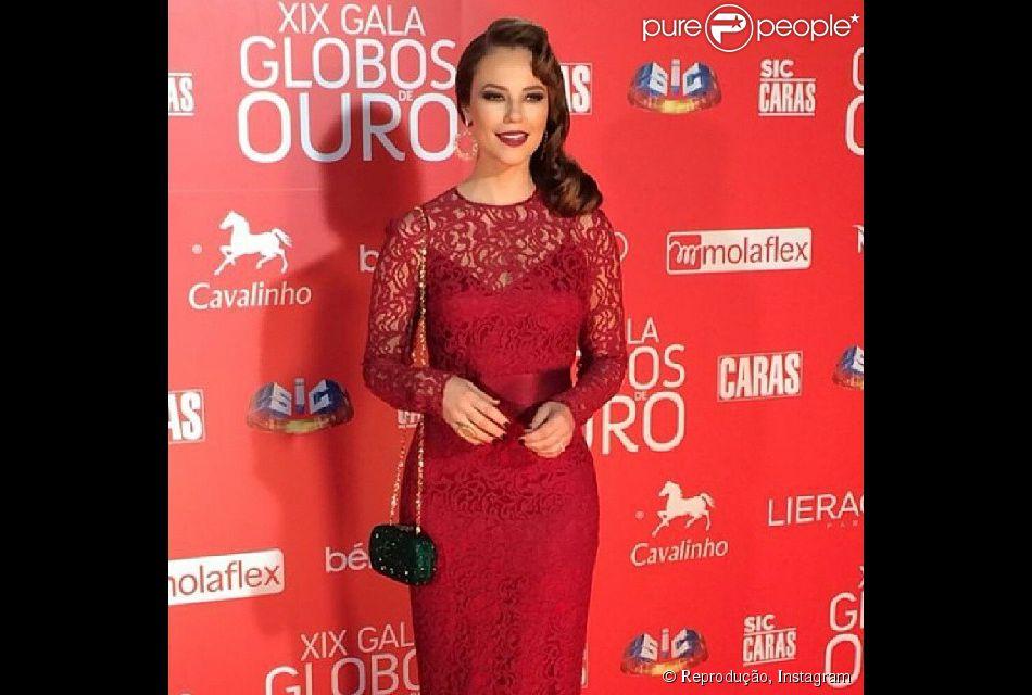 Paolla Oliveira surge elegante no XIX Galas dos Globos de Ouro, em Lisboa, na noite deste domingo, 18 de maio de 2014