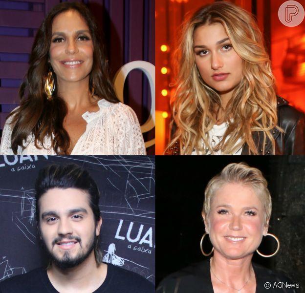 Sasha Meneghel, Ivete Sangalo, Luan Santana e Xuxa Meneghel foram alguns dos famos que se manifestaram na web nesta segunda-feira, dia 27 de novembro de 2017