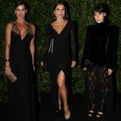 Deborah Secco, Flávia Alessandra e Carla Salle usam preto em baile de gala