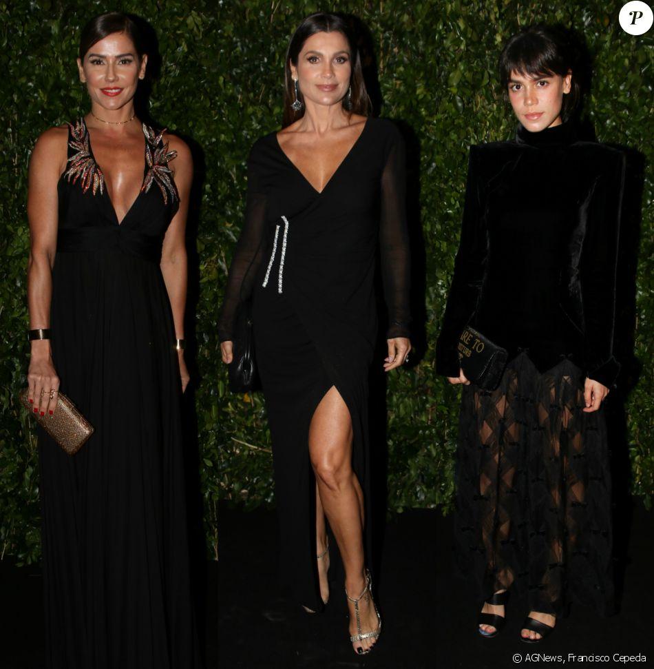 959428cb6 Deborah Secco, Flávia Alessandra e Carla Salle investiram em looks pretos  para a 4ª edição