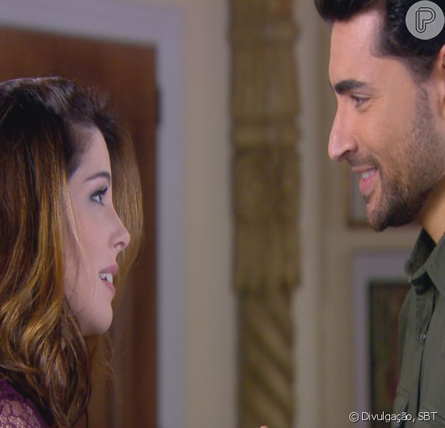 Cecília (Bia Arantes) muda visual e deixa Gustavo (Carlo Porto) encantado com sua beleza, na novela 'Carinha de Anjo'