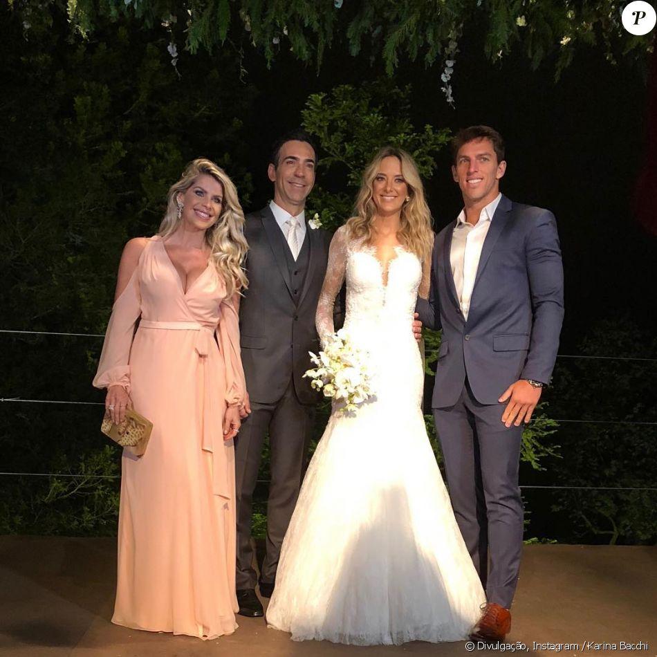 Ticiane Pinheiro usou um vestido de noiva modelo sereira em seu casamento com Cesar Tralli
