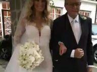 Ticiane Pinheiro usa vestido modelo sereia com decote em casamento. Fotos!