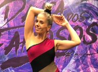 Adriane Galisteu brinca com Faustão após receber nota 10 no 'Dança'. 'Cuidado'