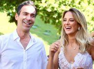 Ticiane Pinheiro mostra vídeos de casamento e Tralli chorando no altar: 'Te amo'