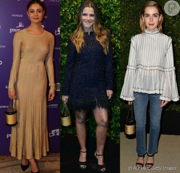 Sophie Charlotte, Ingrid Guimarães e Kiernan Shipka chamaram atenção ao usar bolsa em forma de carretel em seus looks