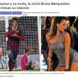 Imediatamente, a imprensa europeia noticiou o fim do namoro de Bruna Marquezine e Neymar