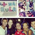 Para espantar as notícias de crise, Neymar e Bruna Marquezine foram juntos a uma reunião de amigos no Rio, no final de dezembro de 2013