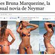 Imediatamente após a contratação de Neymar, a imprensa europeia voltou suas atenções para Bruna Marquezine